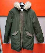 Para Hombres Medio Topman Duck Down Jacket piel sintética con capucha Parka Mod Ganso Abrigo de Canadá
