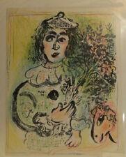 Marc Chagall, Clown Fleuri, 1963, lithographie, Chagall Lithographe, Mourlot imp