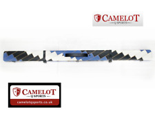 SNOOKER/POOL 3/4 CUE CASE. BLUE & WHITE & BLACK PATCHWORK STYLE. FREE DELIVERY!!