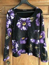 nice connection - sehr hübsches Shirt Blumen Oberteil- Gr. 40 schwarz