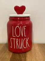 NEW Rae Dunn LOVE STRUCK Baby Figural Canister LL ONLINE EXCLUSIVE Red Heart