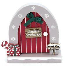 Wooden Opening Christmas Elf Elves Fairy Door Decoration ~ Santa's Workshop