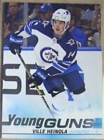 2019-20 UPPER DECK Serie 1, #204 Ville Heinola, YOUNG GUNS, Winnipegs