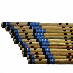 Bamboo Flauti Bella di Legno Handmade Indiano Bansuri Completo Set Di 12 Pezzi