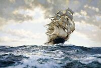 The Proud Ship Painting by Montague Dawson Art Reproduction