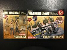 McFarlane The Walking Dead Figure Pack PLUS Daryl With Chopper Building Set