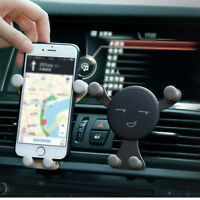 Gravity Car Air Vent Mount Cradle Holder Stand for iPhone Samsung Cell Phone GPS