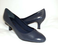Easy Spirit Litany leather pump navy blue sz 9 WIDE New