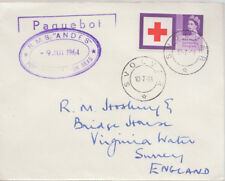 1964 Svolvaer Norway Paquebot cover ~ RMS Andes