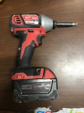 """Milwaukee 2656-20 1/4"""" Impact Driver with Battery Pack. Free Shipping"""