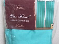"""Window Elements Jamie Faux Silk Extra Wide Grommet Curtain Panel, 54"""" by 95"""" Tur"""