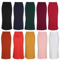 Ladies Womens Gypsy Long Jersey Bodycon Maxi Dress Skirt Ladies Skirt Size S-4XL