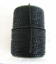 1 metre of Black Braided Round Leather Cord 2.5mm.