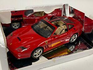 1/18 Burago Ferrari 550 Maranello Custom Targa Top in Rosso Corsa red W64