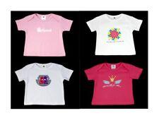 NEW Girls Organic Cotton T-shirts pack of 4 size 6M, 9M, 12M, 18M, 2T, 3T, 4T