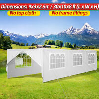 10' x30' Gazebo Party Wedding Outdoor Event Tent Canopy Camping Side Clot