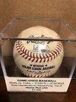 Yasiel Puig Game Used Career Home Run #130 Baseball Indians RARE JC343923