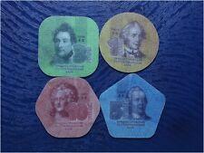 MOLDAVIE / TRANSNISTRIE - 4 VRAI Pièces COMPOSITE ! 1 + 3 + 5 + 10 Roubles 2014