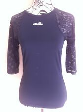 Ellesse Top Quick Dry 3/4 Sleeve Elastic Breathable Ladies Size M(10-12) New