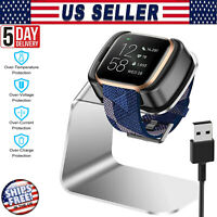 For Fitbit Versa 2 Smart Watch USB Charging Cable Charger Dock Cradle Stand USA