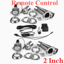 "2 X 2"" Electric Exhaust Muffler Pair Valve Cutout System Dump Wireless Remote"