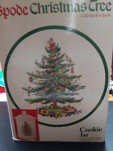 Spode Christmas Tree Cookie Jar Vintage
