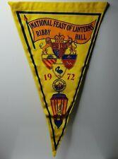 "British camping club National Feast of Lanterns 1972 Ribby hall pennant 12"""