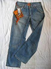 Take Two Barros DA UOMO BLUE JEANS w31/l34 Low Waist Loose Fit Straight Leg