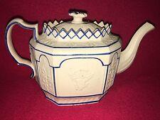 Staffordshire Blue decorated Felspathic Stoneware Teapot 1815 Eagle Shield