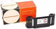 Zeiss Ikon Contarex Interchangeable Pre-Loaded Film Back - RARE in Black! BOXED!