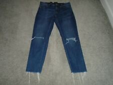 Express Jeans Torn Frayed Girlfriend Jeans Size 8