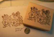 P19 Morning glory fairies  WM rubber stamp