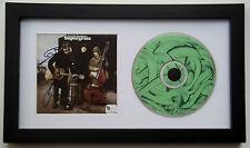 SUPERGRASS Signed GAZ COOMBES Danny Goffey & MICK QUINN Framed CD Display GAI