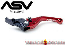 Kawasaki ZX10R Ninja 2006 07 08 09 10 11 12 13 14 15 ASV F3 Lever Set Red Short