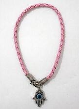 Pink HAMSA KABALLAH BRACELET.... Jewish Lucky Good Luck Against Evil Eye String