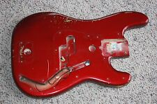 1981 1982 Fender Precision Special bass body original red