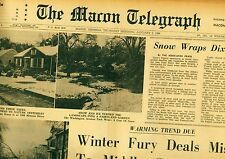 Newspaper Texas Longhorns vs Roger Staubach NAVY Cotton Bowl Macon Georgia 1964