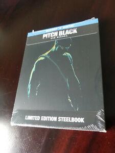 PITCH BLACK STEELBOOK (Blu-Ray + Digital) Limited Edition Vin Diesel Riddick