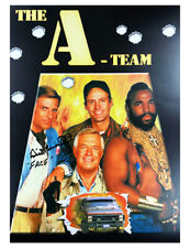 A3 A-Team Poster Signed by Dirk Benedict 100% Authentic With COA