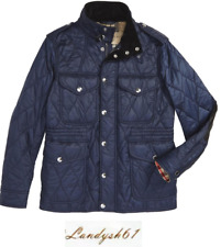 Burberry Womens Garrington Elevated Quilted Jacket Navy XXL