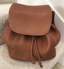 Vintage COACH  British Tan Pebbled Leather Drawstring Backpack Daypack