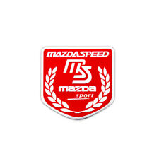 Aluminum Car Sticker Emblem Decal Styling Accessories MS Logo For Mazda Speed 3