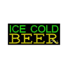 """NEW """"ICE COLD BEER"""" 27x11 SOLID & ANIMATED LED SIGN W/CUSTOM OPTIONS 21428"""