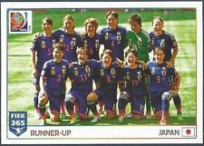 PANINI-2016 FIFA 365- #068-WOMEN'S WORLD CUP-CANADA-2015-JAPAN TEAM PHOTO