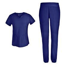 Stretch Women Nursing Scrubs Set - V Neck Slim Mesh Scrubs Uniforms Set Ps1115
