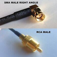 RG316 SMA MALE ANGLE to RCA MALE Coaxial RF Cable USA-US
