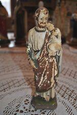 Ancienne statue Statua Saint-Joseph en plâtre (7)