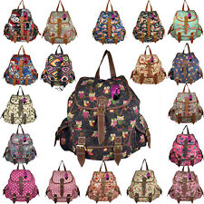 Backpack Ladies Girls Women Print Bag Medium Large Rucksack School Gym Travel UK