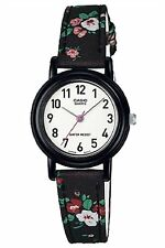 Details about  Casio LQ139LB-1B2 Ladies Analog Watch Black Floral Design Cloth