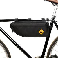 Bicycle Triangle Bag Bike Frame Front Tube Bag Waterproof Large Capacity Pouch
